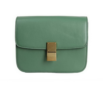 Celine Classic Box Small Flap Bag Calfskin Leather 88007 Green