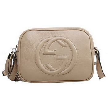Gucci Soho Disco Bag Ostrich Leather 308364 Light Brown