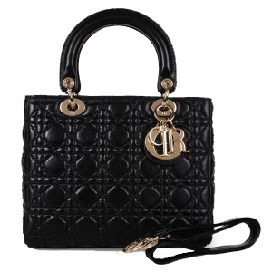 Lady Dior Bag mini Bag Sheepskin Leather D9601 Black