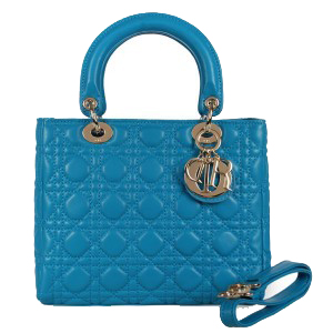 Lady Dior Bag mini Bag Sheepskin Leather D9601 Blue