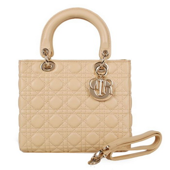 Lady Dior Bag mini Bag Sheepskin Leather D9601 Camel