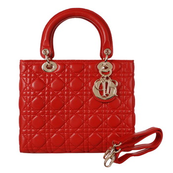 Lady Dior Bag mini Bag Sheepskin Leather D9601 Red