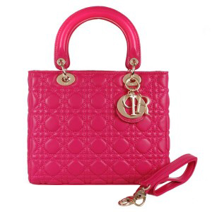 Lady Dior Bag mini Bag Sheepskin Leather D9601 Rose