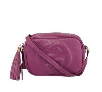 Gucci Soho Calfskin Leather Disco Bag 308364 Purple