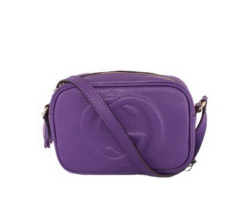 Gucci Soho Calfskin Leather Disco Bag 308364 Violet