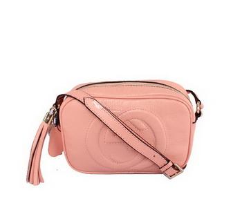 Gucci 308364 Soho Calf Leather Disco Bag Pink