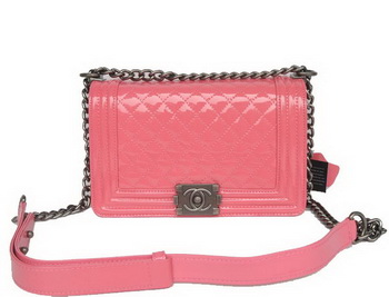 Boy Chanel Flap Shoulder Bag Iridescent Leather A67086 Peach