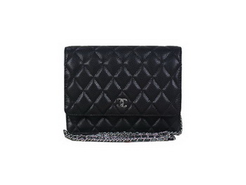 Chanel A33814 Original Cannage Leather mini Flap Bag Black