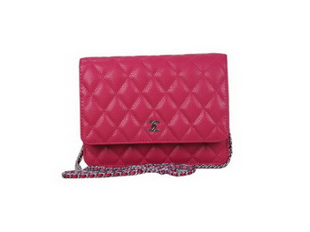 Chanel A33814 Original Cannage Leather mini Flap Bag Rose