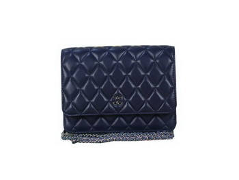 Chanel A33814 Original Leather mini Flap Bag Dark Blue