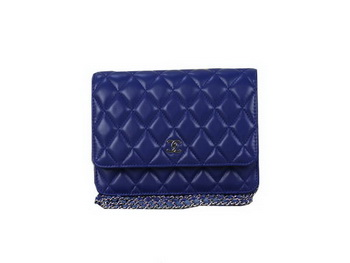 Chanel A33814 Original Leather mini Flap Bag RoyalBlue