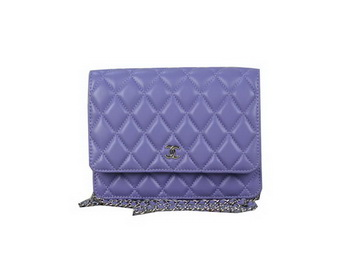 Chanel A33814 Original Leather mini Flap Bag Violet