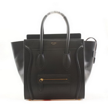 Celine Luggage Mini Boston Bags Smooth Leather Black
