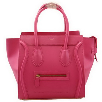 Celine Luggage Mini Boston Bags Smooth Leather Rose