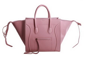 Celine Luggage Phantom Original Leather Bags Pink