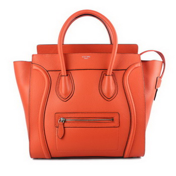 Celine Luggage Mini Shopper Bag Original Leather 16521 88022 Orange