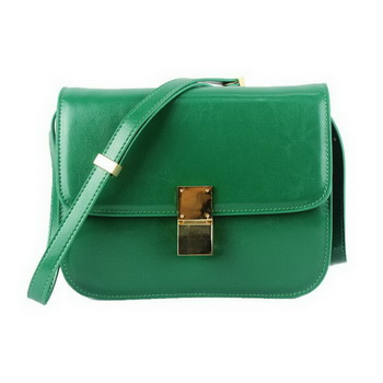 Celine Classic Box Small Flap Bag Calfskin 88007 Jade Green