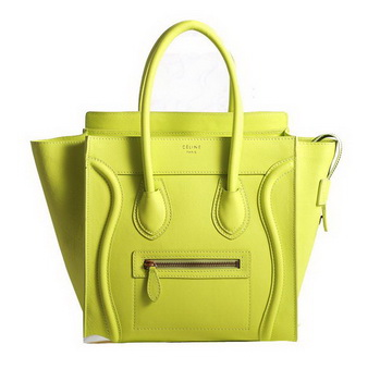 Celine Luggage Micro Boston Bag Fluorescence Original Leather Lemon