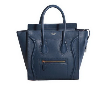 Celine Luggage Micro Boston Bag Original Leather RoyalBlue