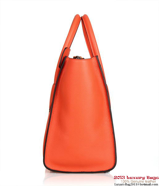 Celine Luggage Mini Tote Bag 88022 Orange Fluorescence Leather