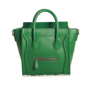 Celine Luggage Nano Boston Bag Original Leather Green