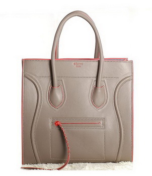 Celine Luggage Phantom Original Leather Bags C3341 Khaki&Orange