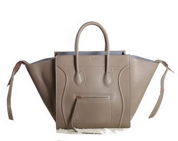 Celine Luggage Phantom Original Leather Bags C3341 Khaki