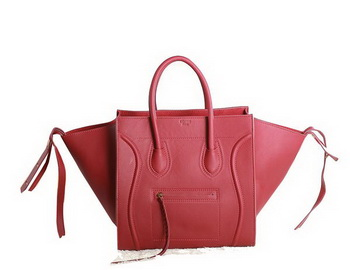 Celine Luggage Phantom Original Leather Bags C3341 Red