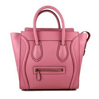 Celine Luggage Mini Tote Bag Original Ferrari Leather 88022 Pink