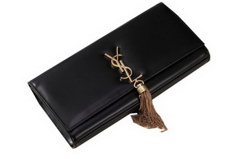 Yves Saint Laurent Classic Monogramme Tassel Clutch Bag Y041 Black
