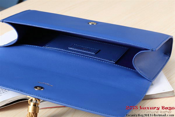 Yves Saint Laurent Classic Monogramme Tassel Clutch Bag Y041 Blue