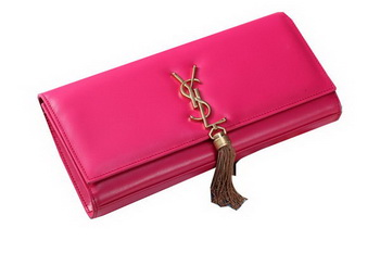Yves Saint Laurent Classic Monogramme Tassel Clutch Bag Y041 Rose