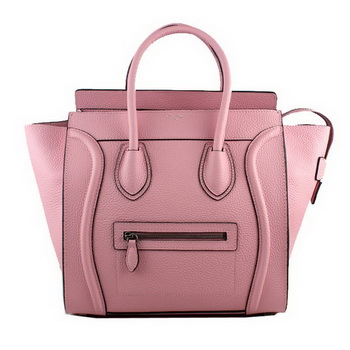 Celine Luggage Mini Tote Bag Original Clemence Leather 88022 Light Pink
