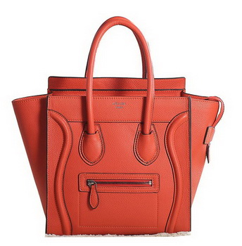 Celine Luggage Micro Boston Bag Clemence Leather 3307 Orange