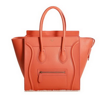 Celine Luggage Micro Boston Bag Original Leather 3307 Orange