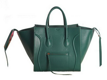 Celine Luggage Phantom Original Leather Bags C3341 Dark Green