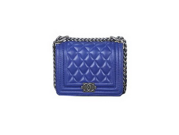 Boy Chanel mini Flap Shoulder Bag Sheepskin Leather A67085 Blue