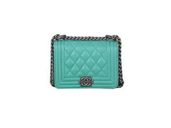 Boy Chanel mini Flap Shoulder Bag Sheepskin Leather A67085 Green
