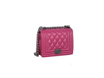 Boy Chanel mini Flap Shoulder Bag Sheepskin Leather A67085 Rose