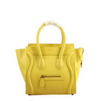 Celine Luggage Micro Boston Bag Smooth Leather 98167 Yellow