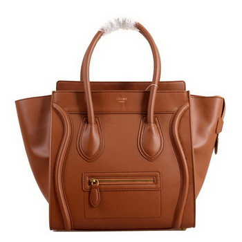 Celine Luggage Mini Boston Bags Smooth Leather 98169 Camel