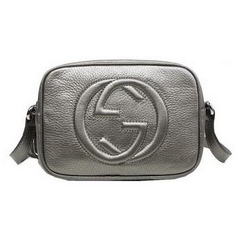 Gucci Soho Calfskin Leather Disco Bag 308364 Silver