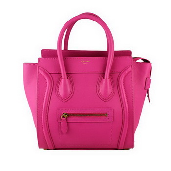 Celine Luggage Micro Tote Bag Original Ferrari Leather 88023 Rose