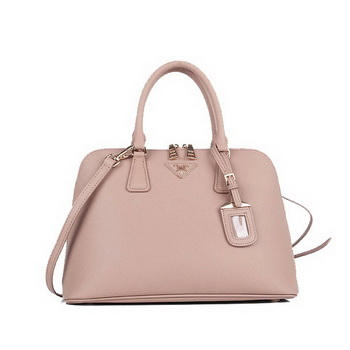 Knock Off PRADA Saffiano Calf Leather Two Handle Bag BL0837 Apricot
