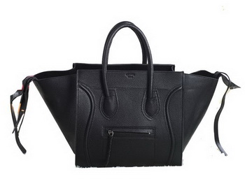 Celine Luggage Phantom Original Grainy Leather Bags C3341 Black