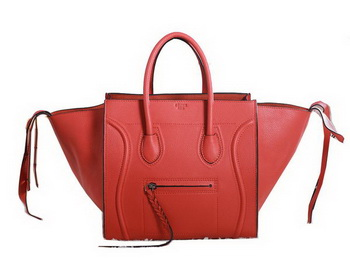 Celine Luggage Phantom Original Grainy Leather Bags C3341 Orange