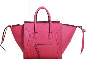Celine Luggage Phantom Original Grainy Leather Bags C3341 Rose