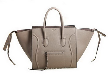 Celine Luggage Phantom Original Grainy Leather Bags C3341 Light Khaki