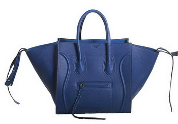 Celine Luggage Phantom Original Grainy Leather Bags C3341 RoyalBlue