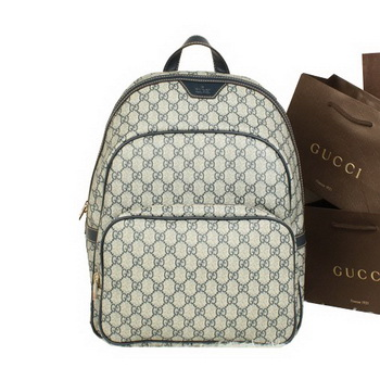 Gucci Supreme Canvas Backpack 322069 Blue